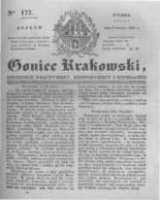 Goniec Krakowski: dziennik polityczny, historyczny i literacki. 1831.08.02 nr177