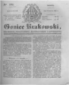 Goniec Krakowski: dziennik polityczny, historyczny i literacki. 1831.08.06 nr181