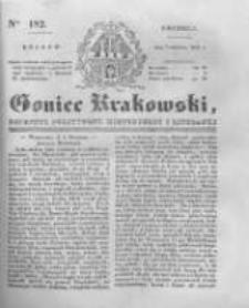 Goniec Krakowski: dziennik polityczny, historyczny i literacki. 1831.08.07 nr182