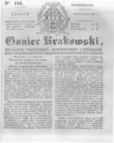 Goniec Krakowski: dziennik polityczny, historyczny i literacki. 1831.08.08 nr183