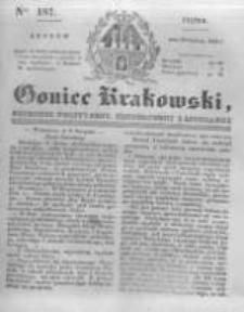 Goniec Krakowski: dziennik polityczny, historyczny i literacki. 1831.08.12 nr187