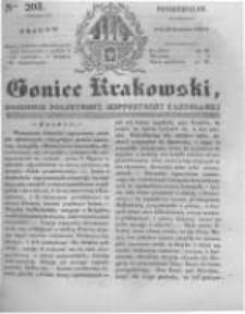 Goniec Krakowski: dziennik polityczny, historyczny i literacki. 1831.08.29 nr203