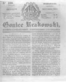 Goniec Krakowski: dziennik polityczny, historyczny i literacki. 1831.09.05 nr210