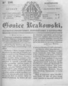 Goniec Krakowski: dziennik polityczny, historyczny i literacki. 1831.09.12 nr216