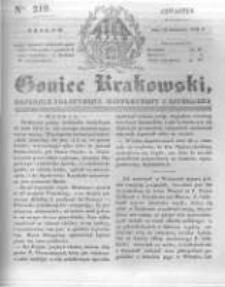 Goniec Krakowski: dziennik polityczny, historyczny i literacki. 1831.09.15 nr219