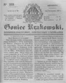 Goniec Krakowski: dziennik polityczny, historyczny i literacki. 1831.09.18 nr222