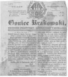 Goniec Krakowski: dziennik polityczny, historyczny i literacki. 1831.10.22 nr256