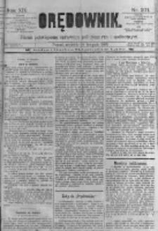 Orędownik: pismo poświęcone sprawom politycznym i spółecznym. 1889.11.24 R.19 nr271