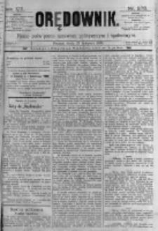 Orędownik: pismo poświęcone sprawom politycznym i spółecznym. 1889.11.27 R.19 nr273