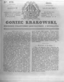 Goniec Krakowski: dziennik polityczny, historyczny i literacki. 1831.07.27 nr171