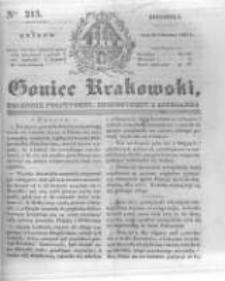 Goniec Krakowski: dziennik polityczny, historyczny i literacki. 1831.09.11 nr215