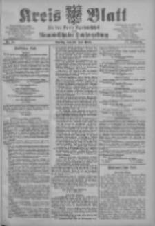 Kreis Blatt für den Kreis Neutomischeler zugleich Hopfenzeitung 1903.07.28 Jg.22 Nr58