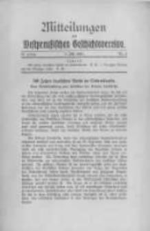 Mitteilungen des Westpreussischen Geschichtsvereins. 1931 Jahrg.30 nr3