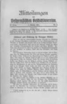 Mitteilungen des Westpreussischen Geschichtsvereins. 1931 Jahrg.30 nr4