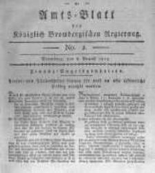 Amts-Blatt der Königlich Brombergischen Regierung. 1815.08.08 No.2
