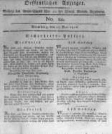 Oeffentlicher Anzeiger. 1816.05.17 No.20