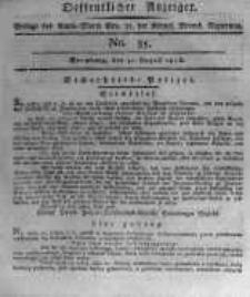 Oeffentlicher Anzeiger. 1816.08.30 No.35