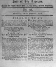 Oeffentlicher Anzeiger. 1816.09.20 No.38