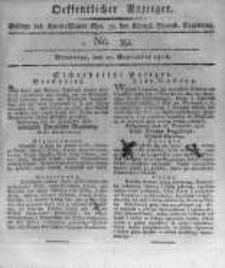 Oeffentlicher Anzeiger. 1816.09.27 No.39