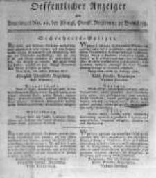 Oeffentlicher Anzeiger zum Amtsblatt No.11. der Königl. Preuss. Regierung zu Bromberg. 1817
