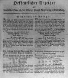 Oeffentlicher Anzeiger zum Amtsblatt No.36. der Königl. Preuss. Regierung zu Bromberg. 1817