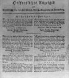 Oeffentlicher Anzeiger zum Amtsblatt No.38. der Königl. Preuss. Regierung zu Bromberg. 1817