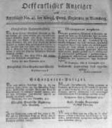 Oeffentlicher Anzeiger zum Amtsblatt No.48. der Königl. Preuss. Regierung zu Bromberg. 1817