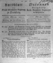 Amtsblatt der Königlichen Preussischen Regierung zu Bromberg. 1819.10.01 No.41