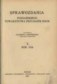 Sprawozdania Poznańskiego Towarzystwa Przyjaciół Nauk. 1936 R.10