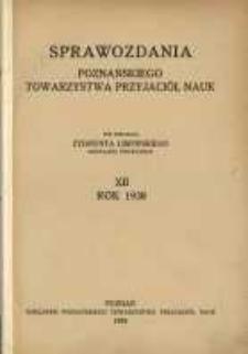 Sprawozdania Poznańskiego Towarzystwa Przyjaciół Nauk. 1938 R.12