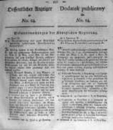 Oeffentlicher Anzeiger zum Amtsblatt No.24. der Königl. Preuss. Regierung zu Bromberg. 1820