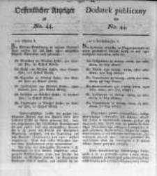 Oeffentlicher Anzeiger zum Amtsblatt No.44. der Königl. Preuss. Regierung zu Bromberg. 1820