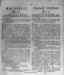 Amtsblatt der Königlichen Preussischen Regierung zu Bromberg. 1821.04.13 No.15
