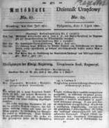 Amtsblatt der Königlichen Preussischen Regierung zu Bromberg. 1821.07.06 No.27