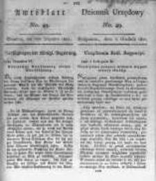 Amtsblatt der Königlichen Preussischen Regierung zu Bromberg. 1821.12.07 No.49
