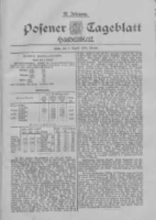 Posener Tageblatt. Handelsblatt 1898.08.05 Jg.37