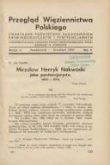 Przegląd Więziennictwa Polskiego: kwartalnik poświęcony zagadnieniom kryminologicznym i penitencjarnym 1937 październik/grudzień R.2 Z.4