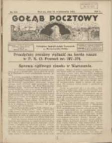 Gołąb Pocztowy: czasopismo hodowli gołębi pocztowych na Rzeczpospolitą Polskę 1925.10.20 R.1 Nr8/9