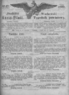 Fraustädter Kreisblatt. 1869.11.19 Nr47