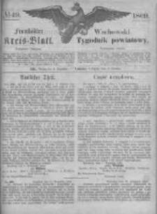 Fraustädter Kreisblatt. 1869.12.03 Nr49