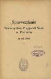 Sprawozdanie Towarzystwa Przyjaciół Nauk w Poznaniu za rok 1919