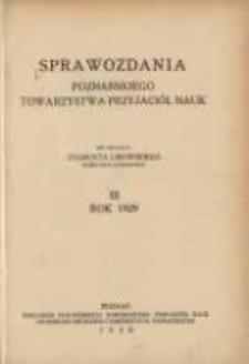 Sprawozdania Poznańskiego Towarzystwa Przyjaciół Nauk. 1929 R.3
