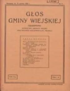 Głos Gminy Wiejskiej: czasopismo poświęcone sprawom Związku Gmin Wiejskich Rzeczypospolitej Polskiej 1929.06.15 R.5 Nr11