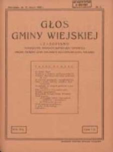Głos Gminy Wiejskiej: czasopismo poświęcone sprawom samorządu gminnego: organ Związku Gmin Wiejskich Rzeczypospolitej Polskiej 1930.03.31 R.6 Nr6