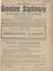 Goniec Sądowy: organ Związku Sądowych Urzędników Średnich i Kancelaryjnych Okręgu Sądu Apelacyjnego w Poznaniu 1928.01 R.8 Nr1