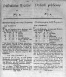 Oeffentlicher Anzeiger zum Amtsblatt No.1. der Königl. Preuss. Regierung zu Bromberg. 1824