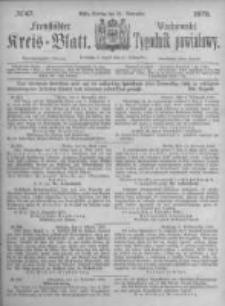 Fraustädter Kreisblatt. 1873.11.21 Nr47
