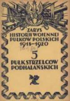 Zarys historji wojennej 5-go Pułku Strzelców Podhalańskich