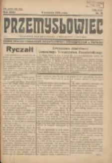 Przemysłowiec: tygodnik dla polskiego rzemiosła, przemysłu i handlu: organ Związku Towarzystw Przemysłowych 1934.04.15 R.31 Nr15