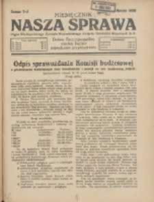 Nasza Sprawa: organ Wielkopolskiego Zarządu Wojewódzkiego Związku Inwalidów Wojennych RP 1930.03 Nr3